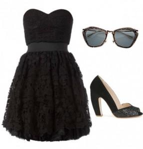Ici, une tenue pour ce démarquer. Du noir, c'est toujours classe, ça sort aussi de l'ordinaire pour un mariage, c'est sûr.